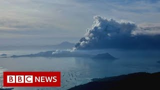 Taal volcano: Lava spews as 'hazardous eruption' feared - BBC News