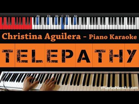 Christina Aguilera -Telepathy - HIGHER Key (Piano Karaoke / Sing Along)