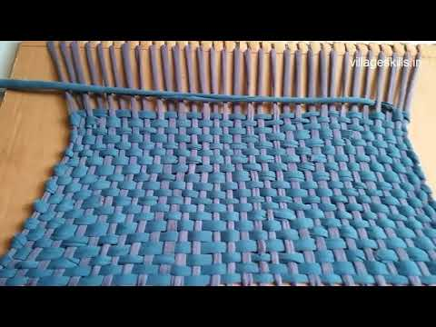 Recycling ideas from old clothes,how to make Door mat using T-shirt/leggings,carpet,rug,table mats