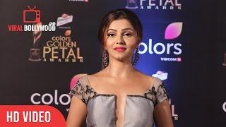 Rubina Dilaik At Colors Golden Petal Awards 2017 | Viralbollywood