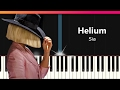 Sia Helium EASY Piano Tutorial Chords How To Play Cover