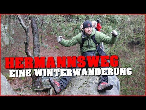 Hermannsweg - Eine Winterwanderung - Tag 1 & 2