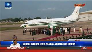 Buhari's Plane Arrives Abuja Airport Amidst Expectations | President Buhari Returns |
