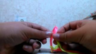 Видео урок №1|Фенечка из лент
