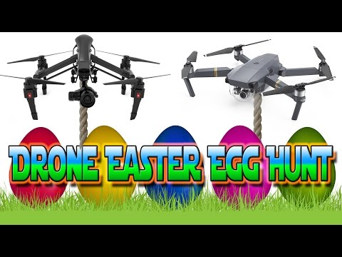 Easter Egg Hunt using Radio Controlled Drones, Fishing Line & Magnets!