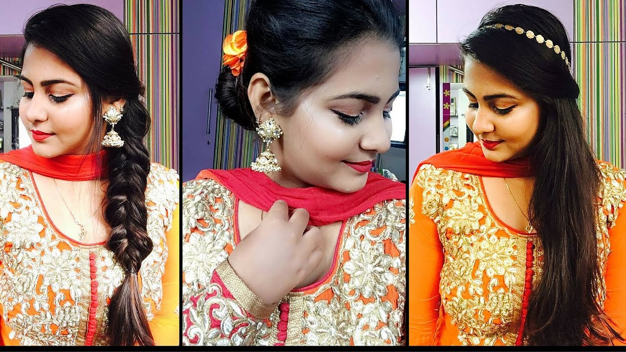 simple indian hair styles 3 easy and indian wedding hairstyles valine 4966 | maxresdefault