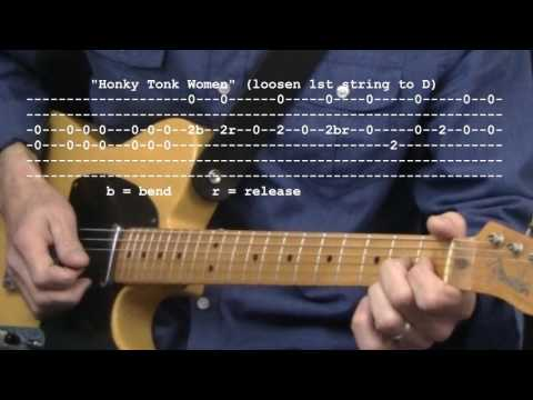 """""""Honky Tonk Women"""" by The Rolling Stones : 365 Riffs For Beginning Guitar !!"""