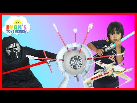 Family Fun Games for kids Star Wars Death Star Boom Boom Balloon Challenge Egg Surprise Toys