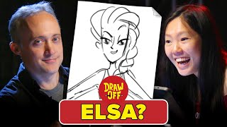 Animators Vs. Cartoonists Draw Disney Princesses From Memory • Draw-Off