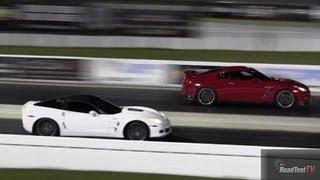 2013 gt r vs 2012 zr1 corvette 1 4 mile drag race video road test tv