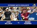 John Millman Vs Roger Federer   US Open 2018 R4