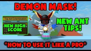 DEMON MASK PRO TIPS - ANTS HIGH SCORE - ANTS TIPS - Roblox Bee Swarm Simulator