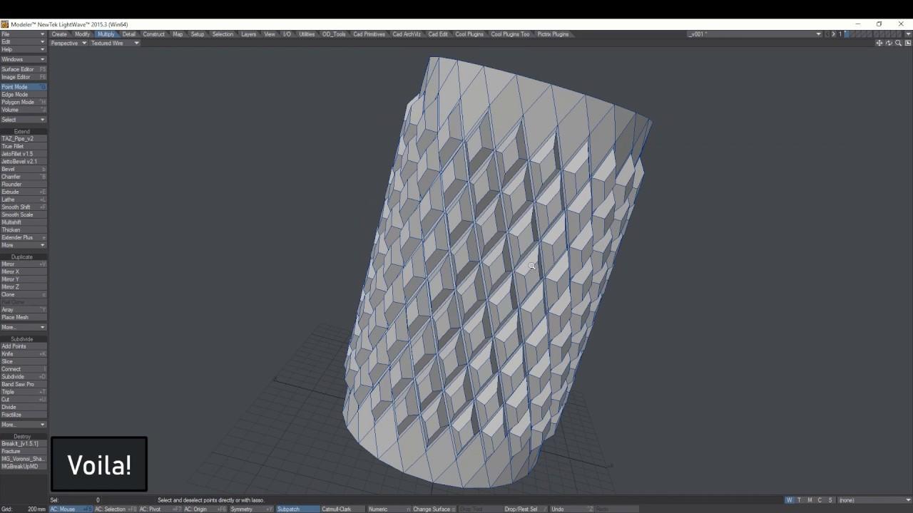 Lightwave 3D Knurling Tutorial
