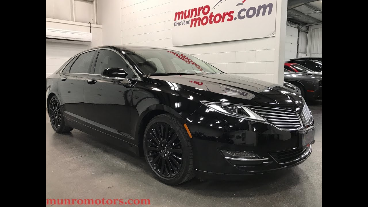 2016 Lincoln Sold Mkz Navigation Sunroof Black Wheels Heated And Cooled Seats Munro Motors