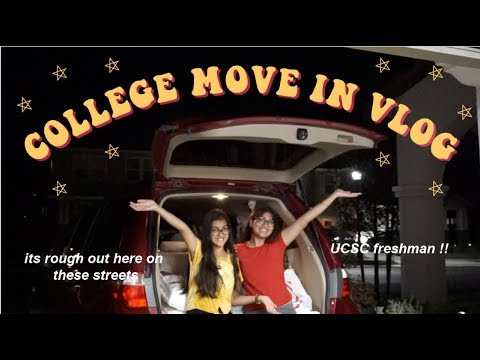COLLEGE MOVE IN VLOG (UCSC Freshman)