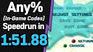 SS: Battle for Bikini Bottom Any% (In-Game Codes) Speedrun in 1:51.88 (WR on 11/8/2018)