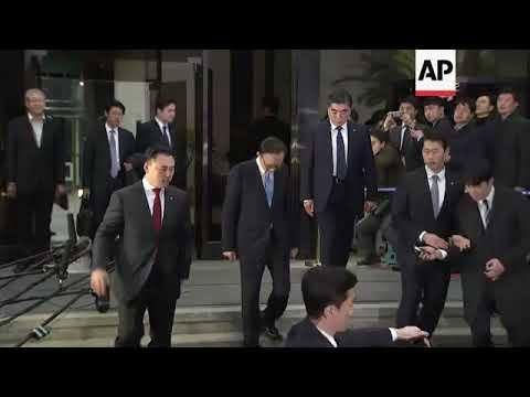 Former SKorean President Lee departs from prosecutors office