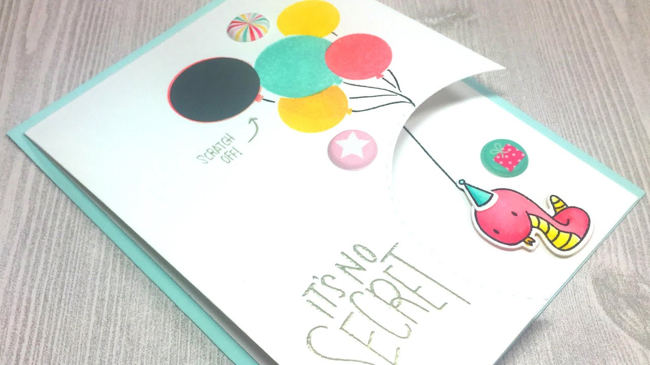 Scratch off surprise birthday card simon says stamp september 2016 scratch off surprise birthday card simon says stamp september 2016 card kit bookmarktalkfo Images