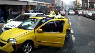 Arrest on William St in Limerick Ireland after car Chase