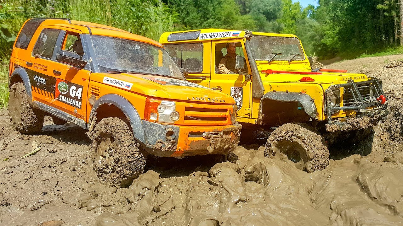 RC Cars MUD Adventure – Land Rover Discovery, Defender and Jeep Wrangler | Wilimovich