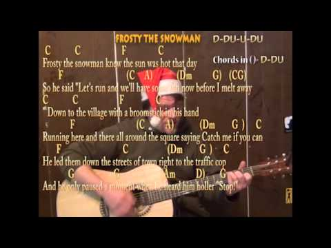 Frosty The Snowman (Christmas) Guitar Strum Chord Cover Lesson Sing and Play