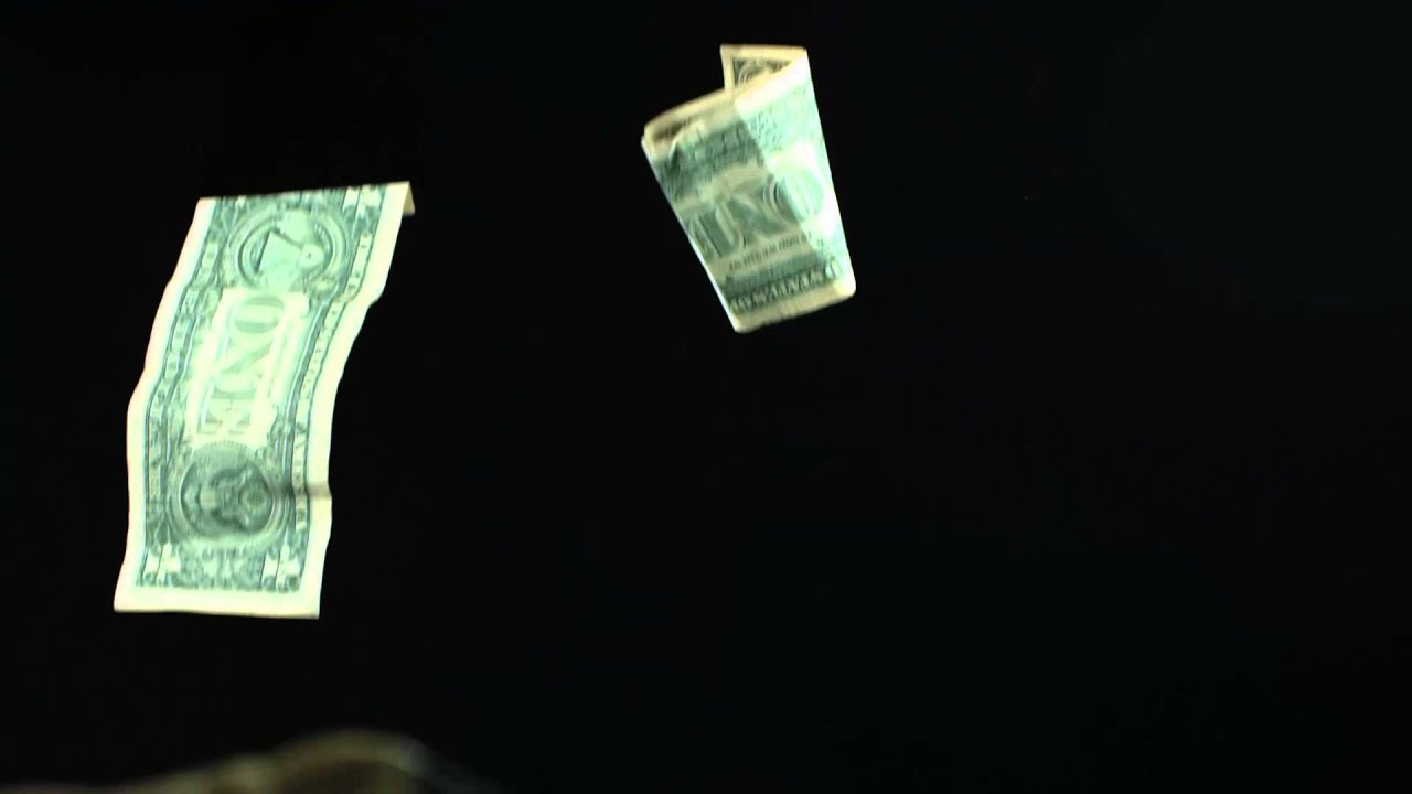 Royalty Free HD Slow Motion Falling Money