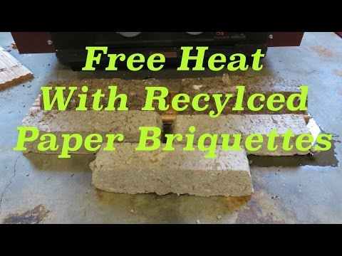Free Heat with Recycled Paper Briquettes