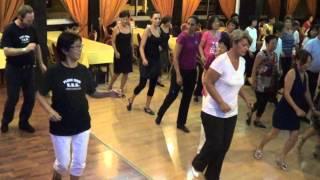 DANZA DEL FUEGO Line Dance @ 2013 REUNION ISLAND WORKSHOP with IRA WEISBURD
