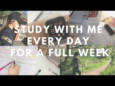 STUDY WITH ME EVERY DAY FOR A WEEK | GCSE MOCK REVISION