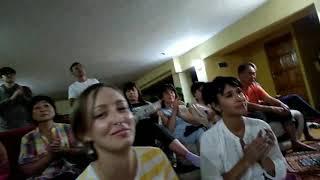 Мантра медитация на йога-ретрите. Алаколь 2019