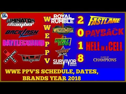 2018 WWE PPV Schedule, Date, Month & Brands | WWE PPV List 2018