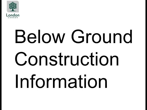 Project Update Meeting: Presentation One - Information about Below Ground Construction