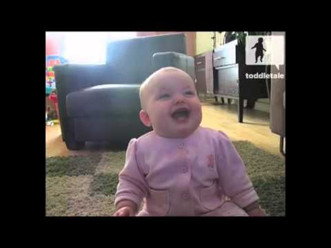 Baby Laughing At Dog Eating Popcorn