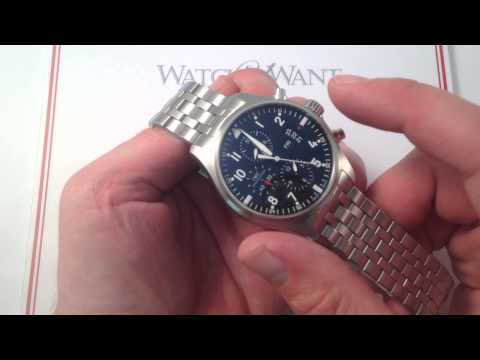 IWC Pilot's Chronograph 3777-04 Luxury Watch Review