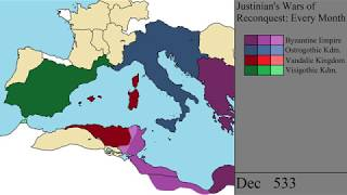 Justinian's Wars of Reconquest: Every Month
