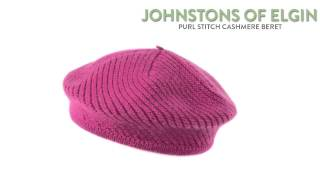 Johnstons of Elgin Purl Stitch Beret - Cashmere (For Women)