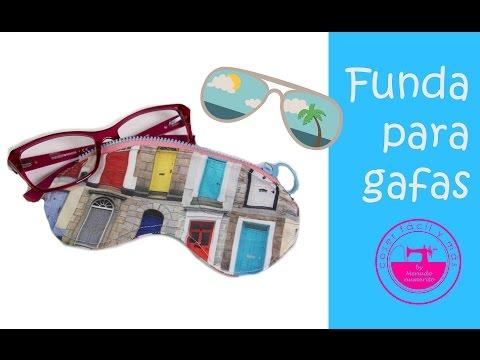 14423661bc Cómo hacer una funda para gafas (incluye patrón/molde) - YouTube