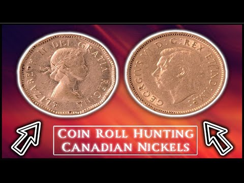 Coin Roll Hunting Canadian Nickels  - Chrome Plated, George VI & Many Epic Rare Coins Discovered!