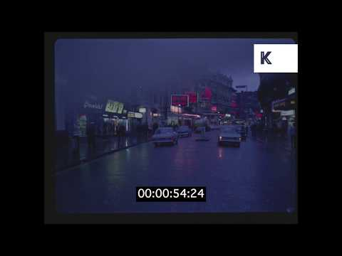 1960s London, Shaftesbury Avenue and Theatres At Night HD from 35mm | Kinolibrary