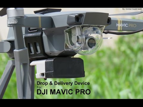 Drop & Delivery device for DJI Mavic Pro (payload release mechanism)