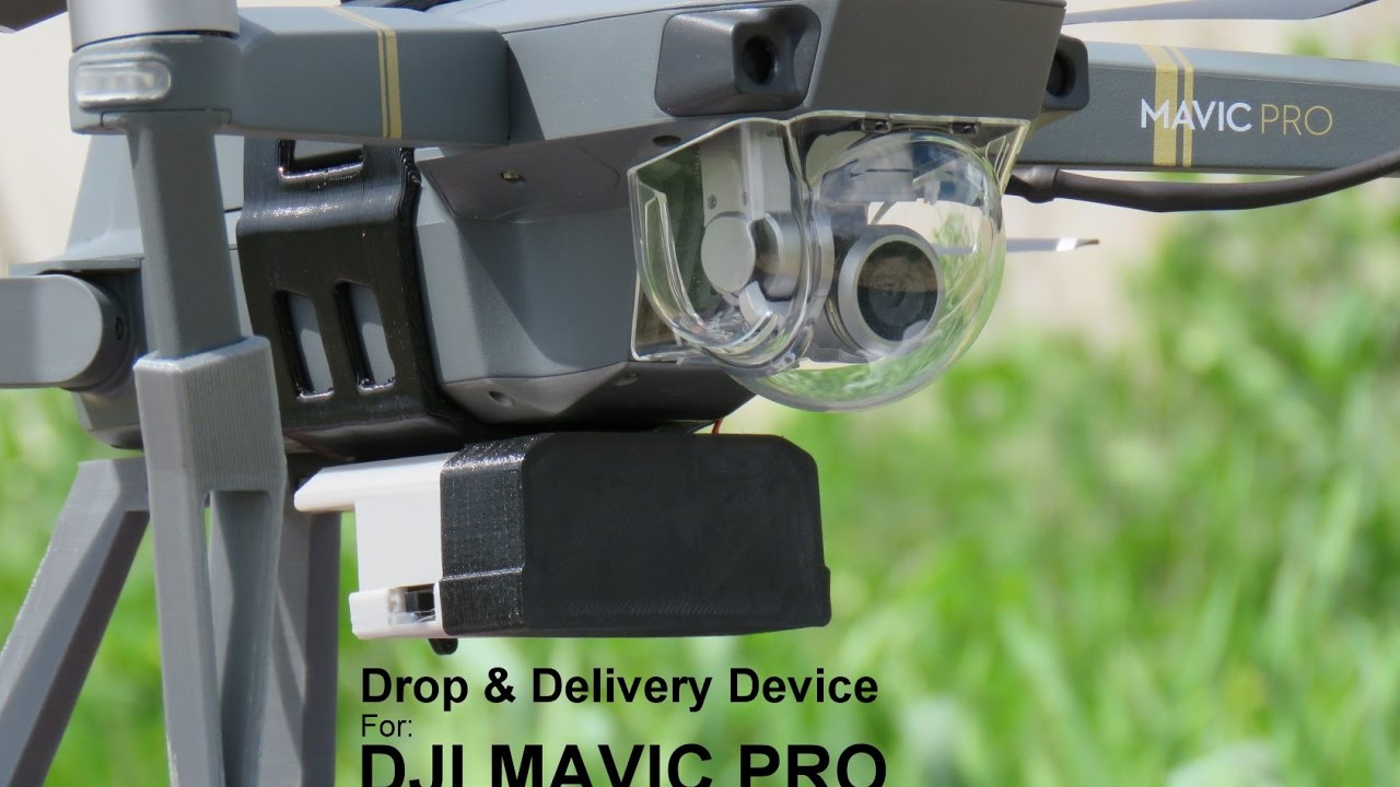 Drop Amp Delivery Device For Dji Mavic Pro Payload Release