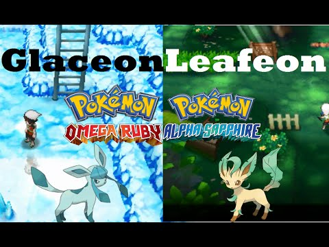 Pokemon Omega Ruby and Alpha Sapphire HOW TO GET/EVOLVE EEVEE TO GLACEON AND LEAFEON! + TM79