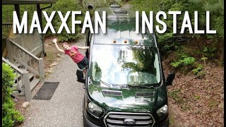 Cover images Maxx Fan Install 2020 AWD Ford Transit Van Conversion   Zac Shaves His Head