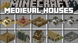 Minecraft MEDIEVAL HOUSE MOD / SPAWN CASTLES AND MILITARY CAMPS IN MINECRAFT!! Minecraft