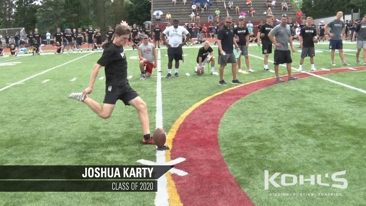 ad3d03443d 1 Ranked Kicker in America | Joshua Karty | Kohl's Kicking Camps ...