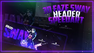 FAZE SWAY 3D FORTNITE HEADER SPEEDART + FREE TEMPLATE @FaZeSway