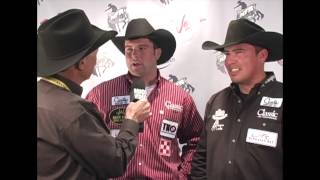 Dustin Bird and Paul Eaves Round 4 2012 NFR Team Roping