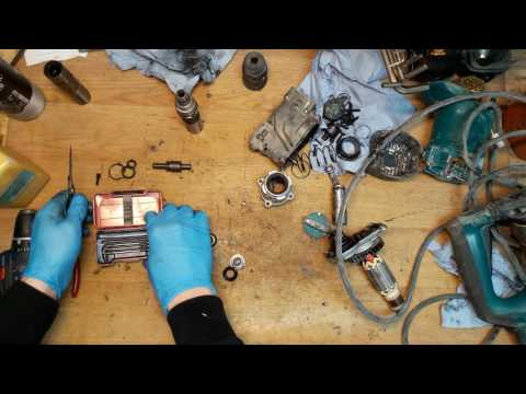 How to assemble Makita rotary hammer drill HR2811FT tools holder replace