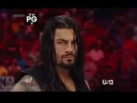 Roman Reigns vs. Batista WWE Raw 12 May...