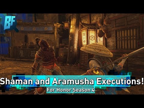 For Honor Season 4: Every Shaman and Aramusha Emote and Execution!